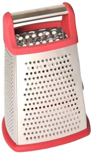 MDC Housewares P!zazz 002-94R 10-Inch 4-Sided Red Stainless Steel Grater by MDC Housewares. $12.99. Non skid bottom. 10-inch 4-sided red grater. Stainless steel. Easy Grip Handle. Dishwasher safe. MDC Housewares is dedicated to bringing to the market a diverse selection of kitchen ware items and offering our customers the very best possible value. We offer wide ranges of gadget and kitchen tool handles as well as cutting boards made of cherry and Canadian maple. We also offer hi...