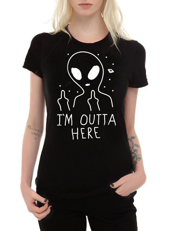 IM OUTTA HERE alien shirt, pastel goth shirt, goth shirt, alien shirt, tumblr shirt, alien art, vaporwave