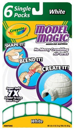 """Crayola Model Magic Single Packs White (6 Single Packs) - For art AMD classrooms. At Crayola, we believe being """"responsible"""" means doing what is right. It is being a good Citizen in the communities and countries where we operate and our products are found."""