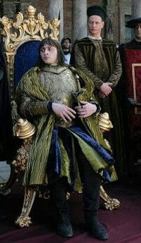 Simon Larvaron as King Charles VIII.  Borgia Faith and Fear