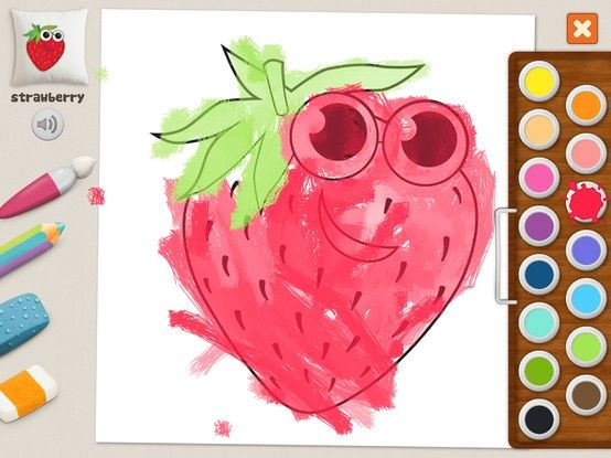 """Strawberry"" - Julia (age 5). #coloring #pages #memollow"