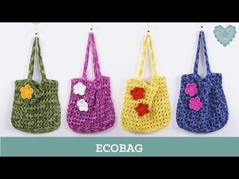 Criações em Crochê: Ecobag   Luciana Ponzo - YouTube