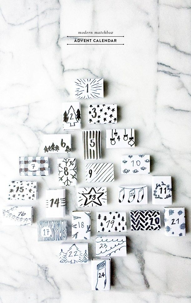 Modern Matchbox Advent Calendar Craft Ideas Pinterest Advent