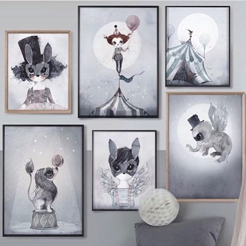 Roll up, roll up.. Circus Mighetto has come to town! Introducing six dreamy new characters from @mrsmighetto in a mix of 50x70cm, 40x50cm & a petit 18x24cm two-pack. Available in-store now! Get yours whilst you can... #mrsmighetto #circusmighetto #kidsart #cuckoolittlelifestyle