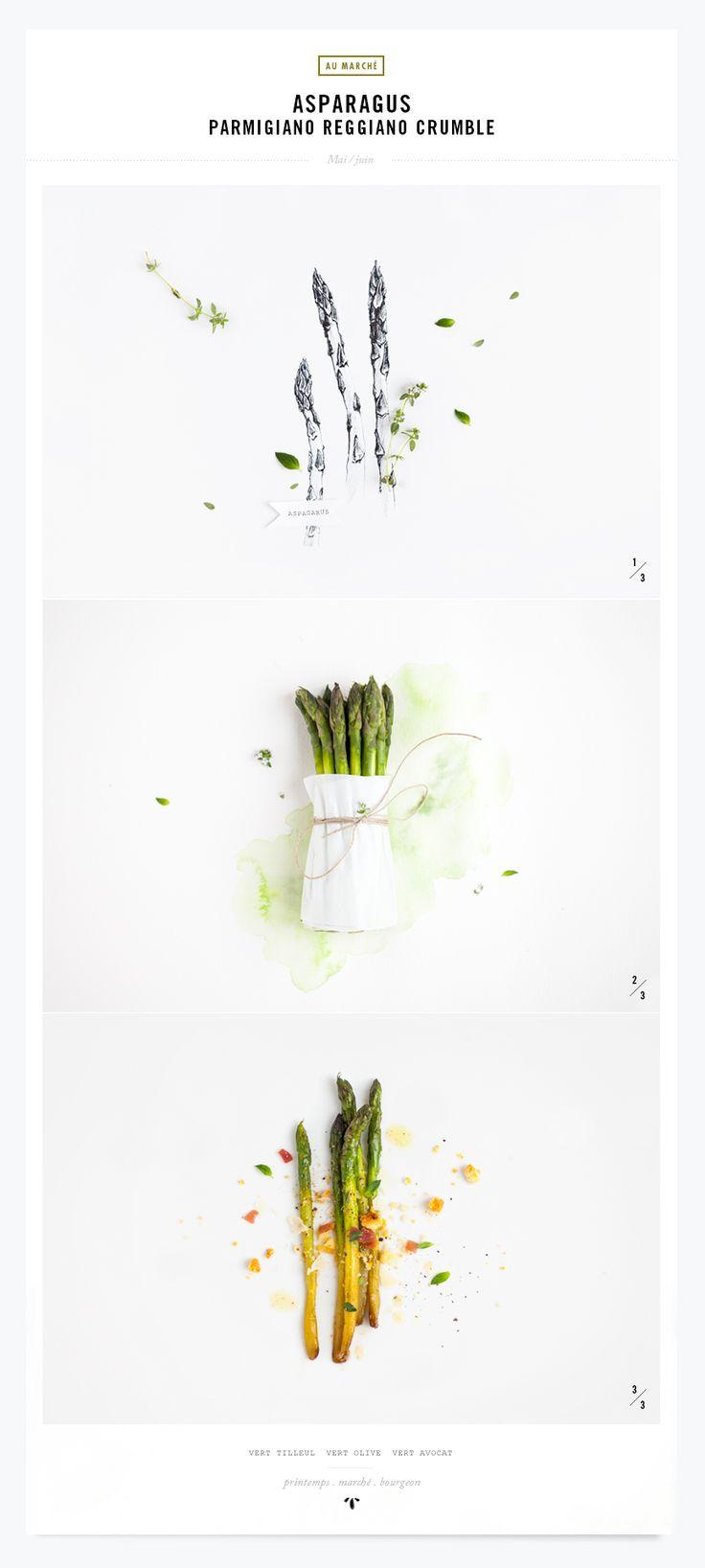 My Little Fabric - Asparagus Parmigiano Reggiano Crumble