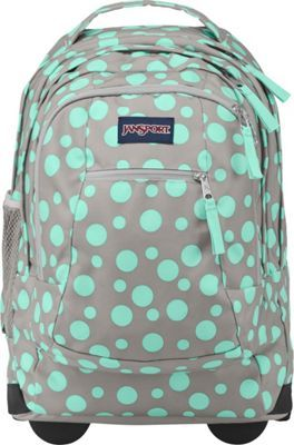 JanSport Driver 8 Rolling Backpack Grey Rabbit Sylvia Dot - via eBags.com!