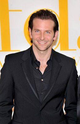 Love a man in a black on black suit...esp when it's Bradley Cooper