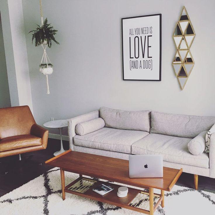 "88 Likes, 26 Comments - S A R A H • D (@sarahd7602) on Instagram: ""Living Room Vibes ❤ #homesweethome #midcenturymodern #midcenturyfurniture #westelm #livingroomdecor…"""