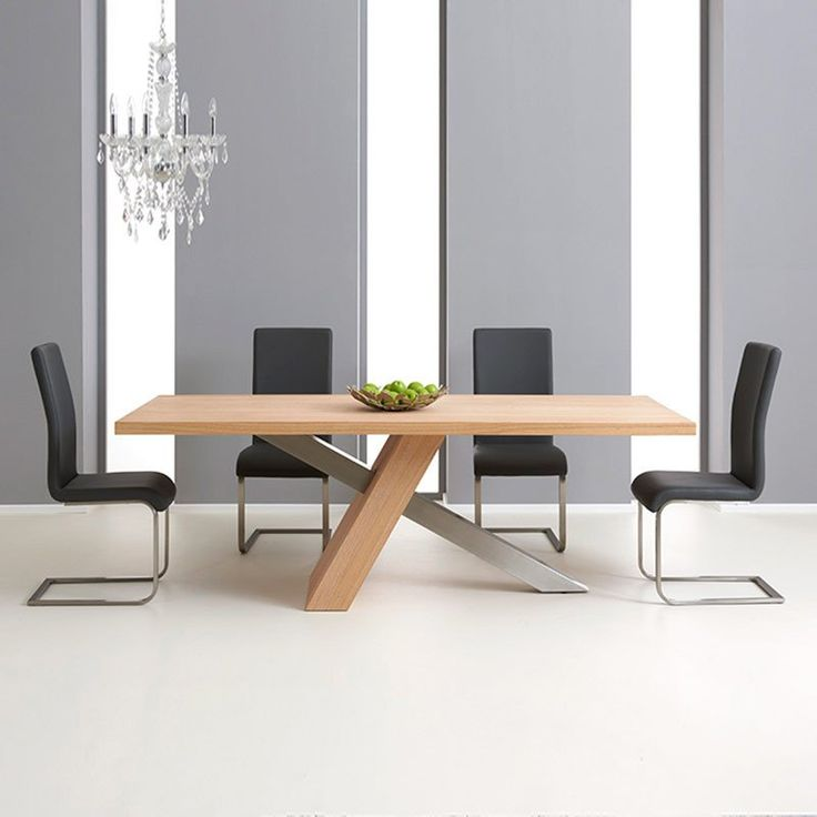 Montana Oak 180cm Dining Table With 4 Malibu Chairs