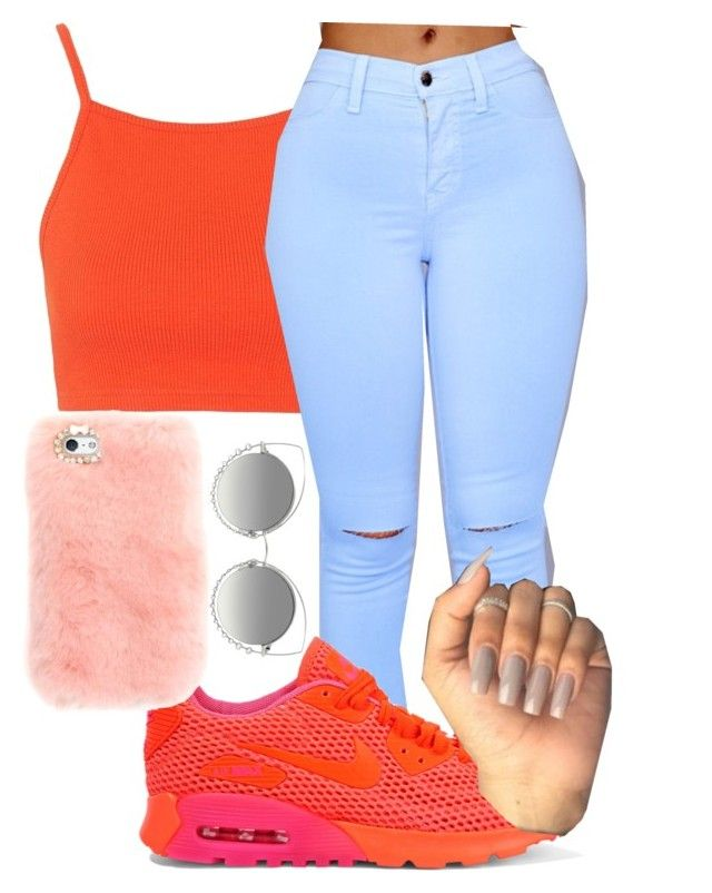 U0026quot;Orange Squeezeu0026quot; by paris-the-hippie liked on Polyvore featuring Topshop NIKE and Marc Jacobs ...