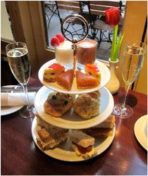Great New Afternoon Tea in Covent Garden - Crusting pipe