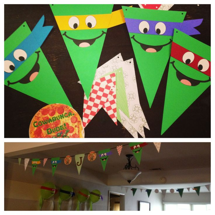 Teenage mutant ninja turtles party bunting