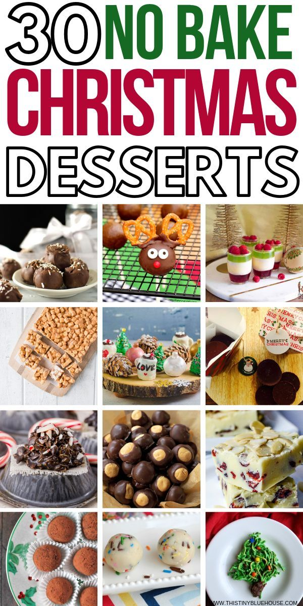 30 Delicious No Bake Christmas Cookies And Desserts Candy Party