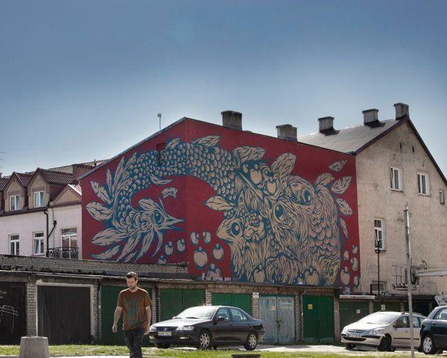 Swanski - Mural na Modern Art Days w Białymstoku