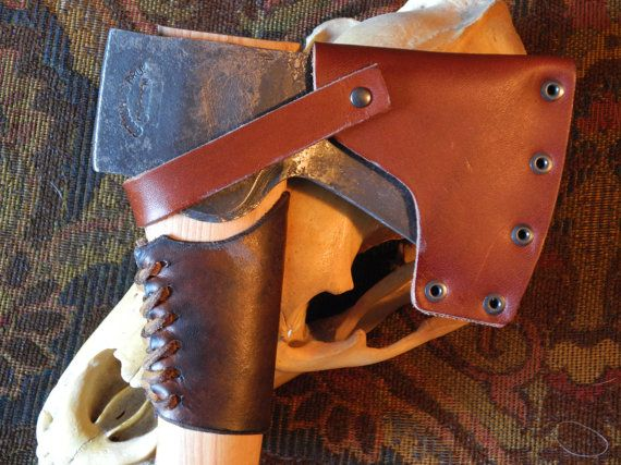 Leather Axe Handle Guard (Collar Guard) for Gransfors Bruks Small Forest Axe