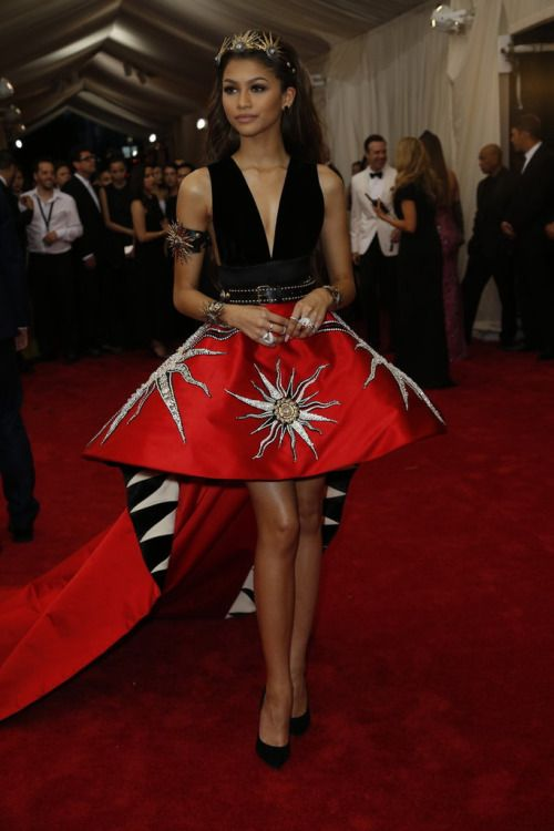 """Zendaya attends the """"China: Through The Looking Glass"""" Costume Institute Benefit Gala at the Metropolitan Museum of Art on May 4, 2015"""