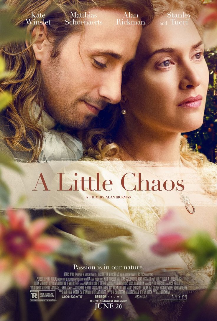 A Little Chaos (april 2015) really enjoyable, beautifully shot film 4 stars
