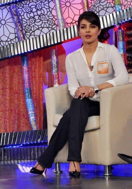 Actress Priyanka Chopra during NDTV's Our Girl Our Pride fund raising campaign in Mumbai on December 01