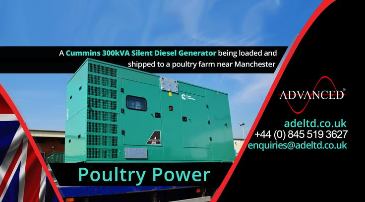 Poultry Power…  A #Cummins 300kVA silent diesel generator being loaded and shipped to a poultry farm near #Manchester  Visit: adeltd.co.uk for more information on #DieselGenerators, acoustic enclosures, fuel tanks, modular switchgear housings, UPS modular buildings + much more.  Advanced Diesel #Engineering - A Single Source #Solution from Under One Roof!  Email: enquiries@adeltd.co.uk  Telephone: +44 (0)845 519 3627  Website: adeltd.co.uk  #Poultry #Farming #Farm #Agriculture…