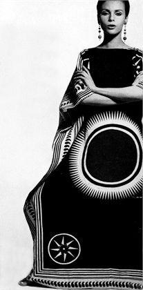 photo by ugo mulas, Caftan dress vogue Italia 1967                                                                                                                                                     More