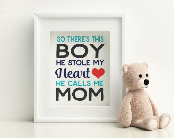 Gift for Mom Baby Boy Nursery Decor Quote for by SoulStudioPrints