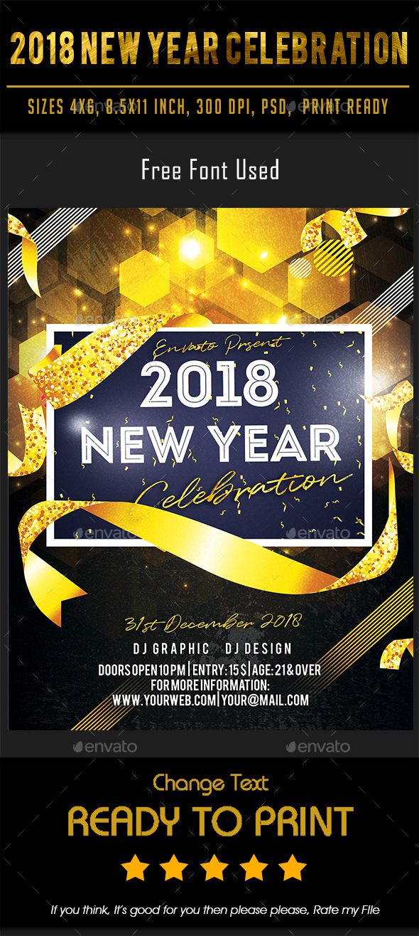 299 best New Year Party Flyer Templates images on Pinterest - new year poster template