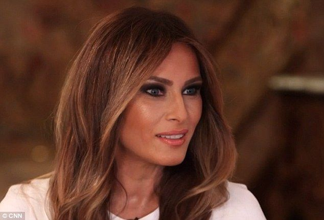 Bad words: Melania Trump spoke about her husband's crass language in an interview with Anderson Cooper set to air in full Monday night #DonaldTrumpTalkingDoll