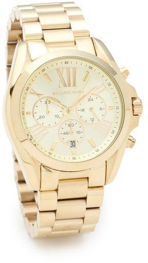 $250, Michael Kors Michl Kors Bradshaw Gold Chronograph Watch. Sold by shopbop.com.