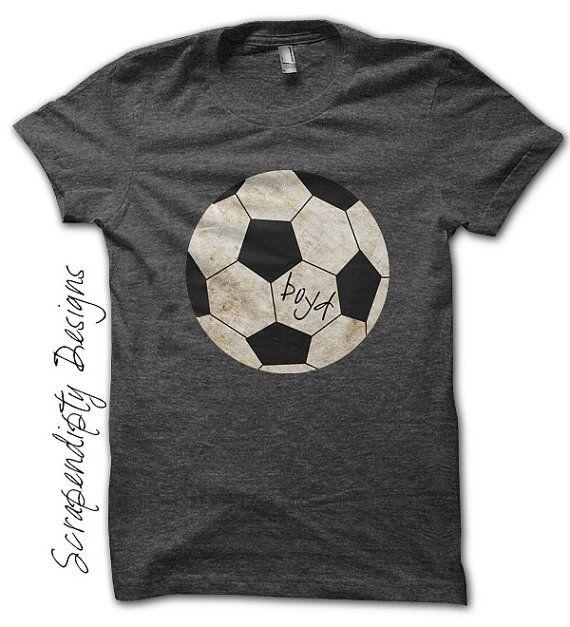 Soccer Iron on Transfer - Iron on Sports Shirt PDF / Kids Custom Soccer Shirt / Soccer Mom Tshirt / Sports Birthday Decoration Print IT335-P