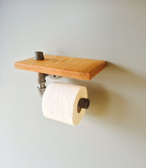 Industrial Black Pipe Toilet Paper Holder By PatsCreativeCrafts