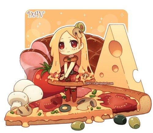 Imagem de pizza, anime, and chibi