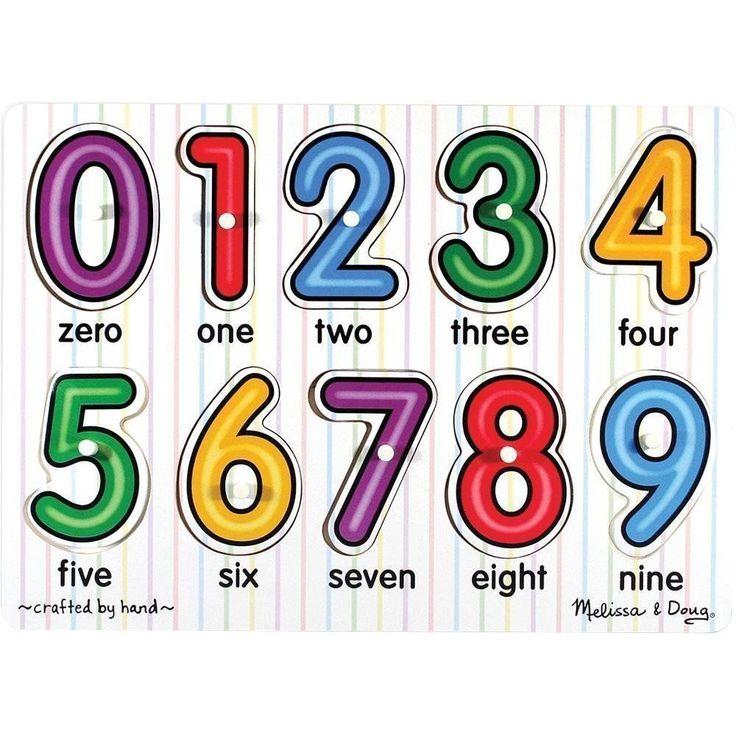 Buy Melissa & Doug - Numbers Peg Puzzle - 10pc