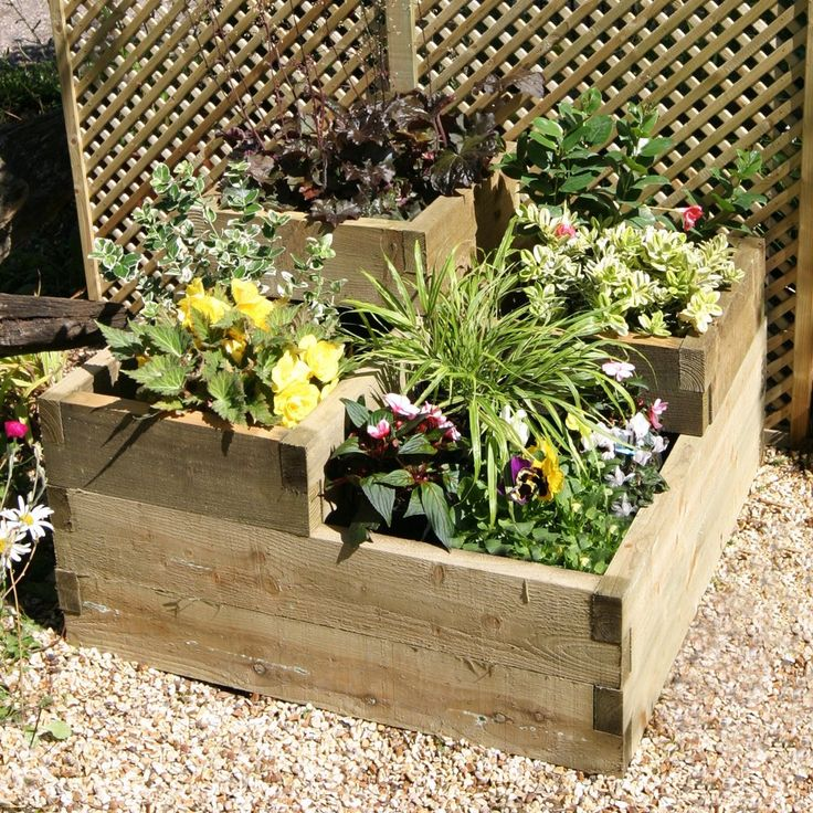Wooden Flower Pots Ideas Raised Garden Beds Elevated