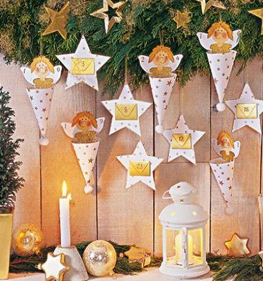 DIY Paper angel advent calendar (free printable template) // Angyalkás papír advent kalendárium házilag (nyomtatható sablon) // Mindy - craft tutorial collection // #crafts #DIY #craftTutorial #tutorial