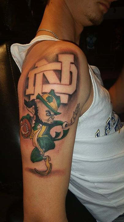 19 best fighting irish tattoos images on pinterest irish for Notre dame tattoos