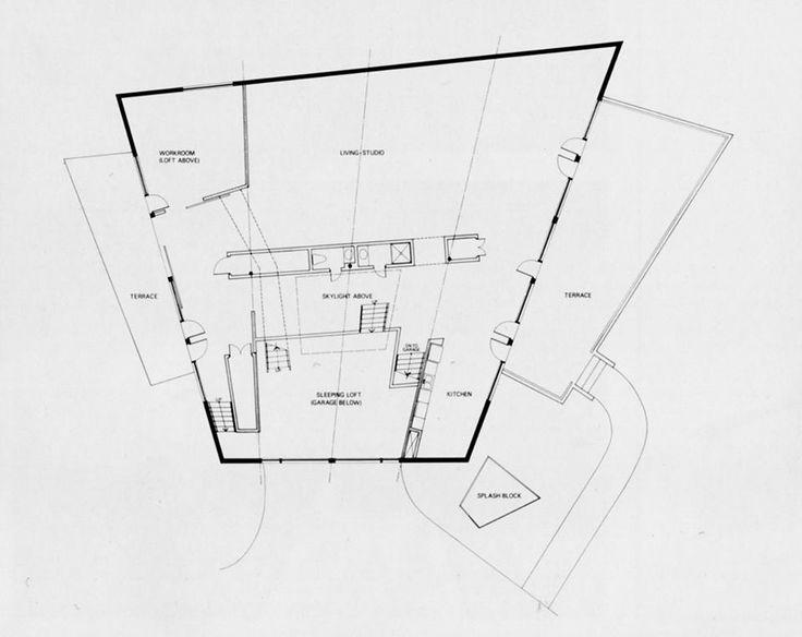 Frank gehry ron davis ron davis house malibu for Davis homes floor plans
