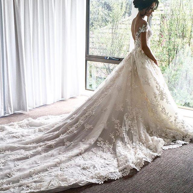 ELIZABETH | #stevenkhalil Couture Wedding gown.  @natalieannehair  @annhassarati