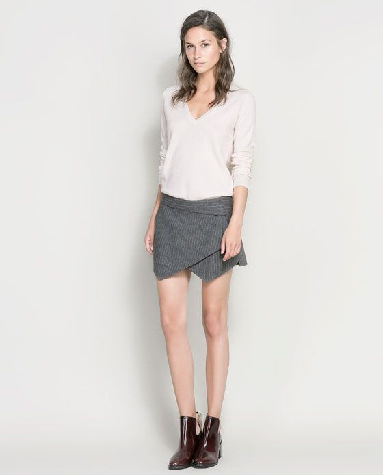Image 1 of PINSTRIPE SKORT from Zara