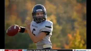 """Check out the Finalist- Karlie Harman in the """"Together We Make Football"""" Super Bowl Contest!  Vote daily until Jan 4th @ twmf.com. - iSpot.tv"""