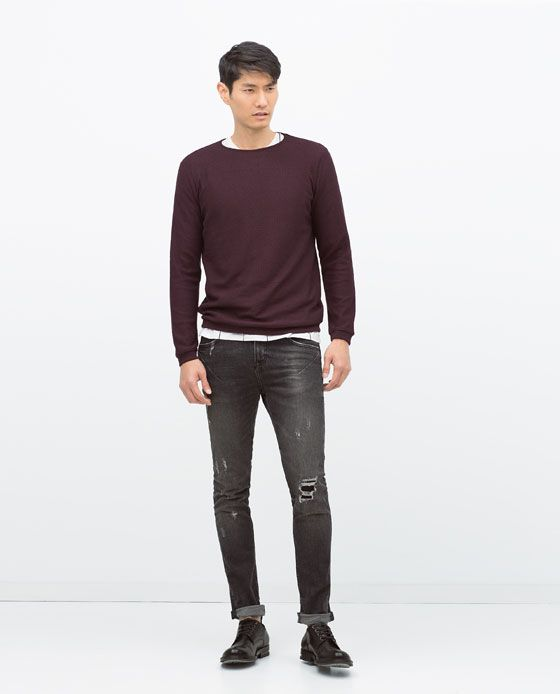 ZARA - MAN - STRUCTURED SWEATER