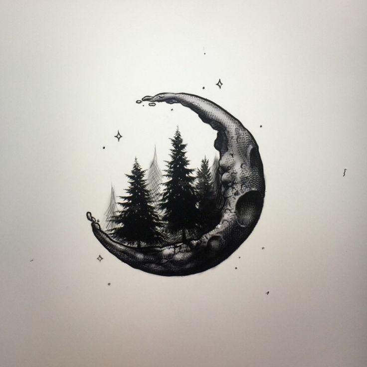 25+ Best Ideas about Crescent Moon Tattoos on Pinterest ...