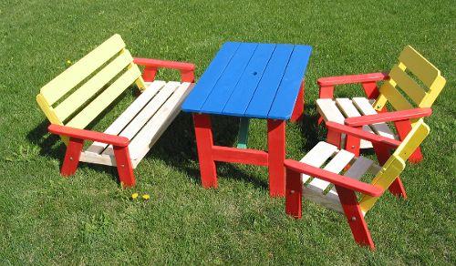 Kindersitzgruppe für den Garten - KC1263 - Garten - Gartengarnitur