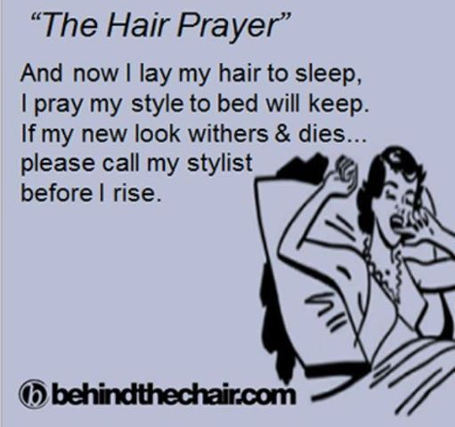 The Hair Prayer lol @Christina Whitney