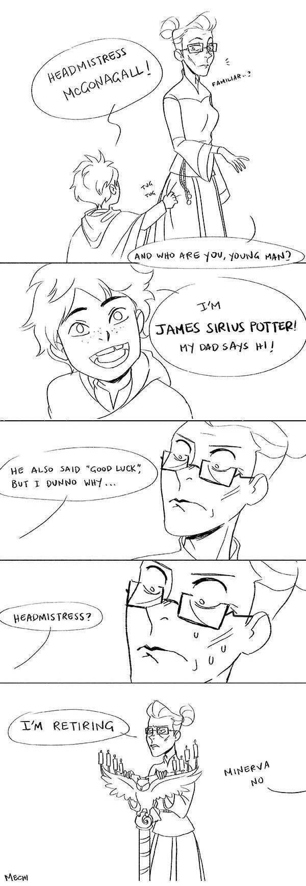Minerva McGonagall meets James Sirius Potter