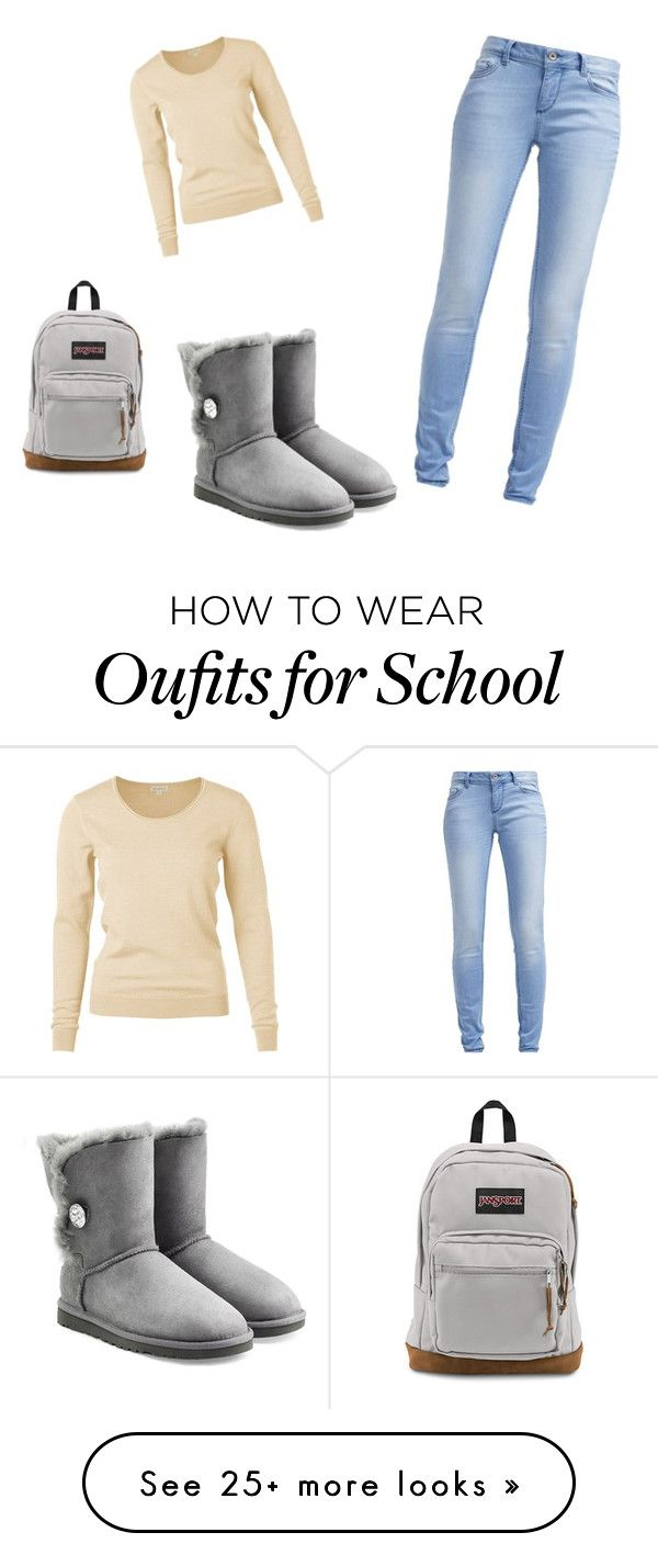 """""""Winter school days"""" by ryen-langford on Polyvore featuring TOM TAILOR, UGG Australia and JanSport"""
