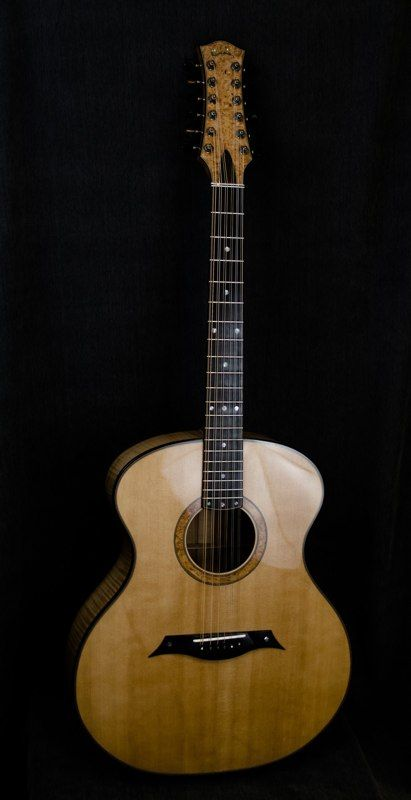 12 string by John Carrigan of Curly Creek Guitars.