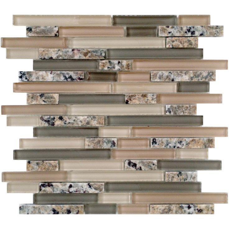 Mosaic Tile Backsplash Lowes: EPOCH Architectural Surfaces Spectrum Desert Gold Mosaic