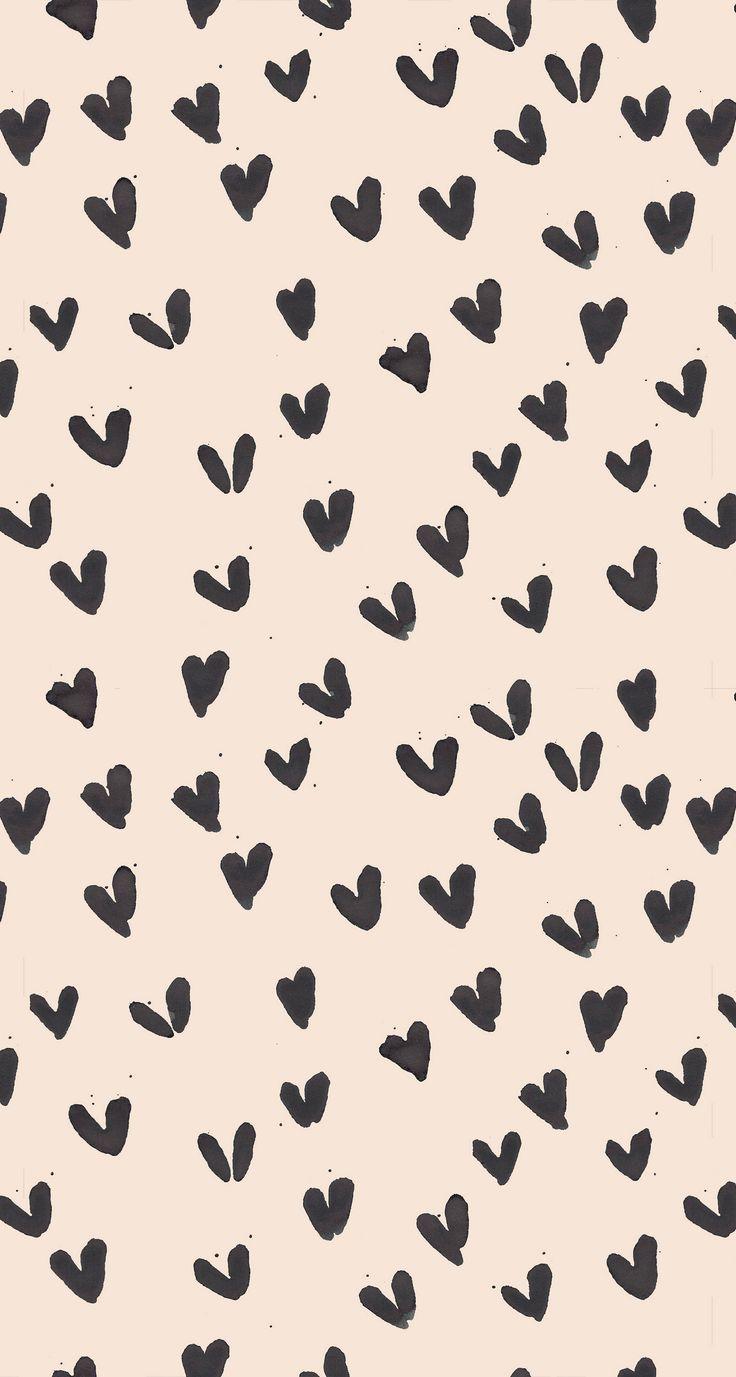 Scribble Heart Print Phone Wallpaper Images Cute Wallpapers Cute Wallpaper For Phone