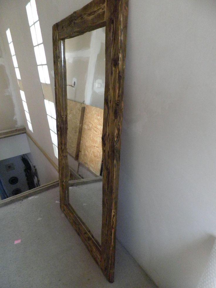 Driftwood wooden mirror. - Uszadékfából készült nagyméretű tükör.