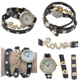 Horloge love zwart
